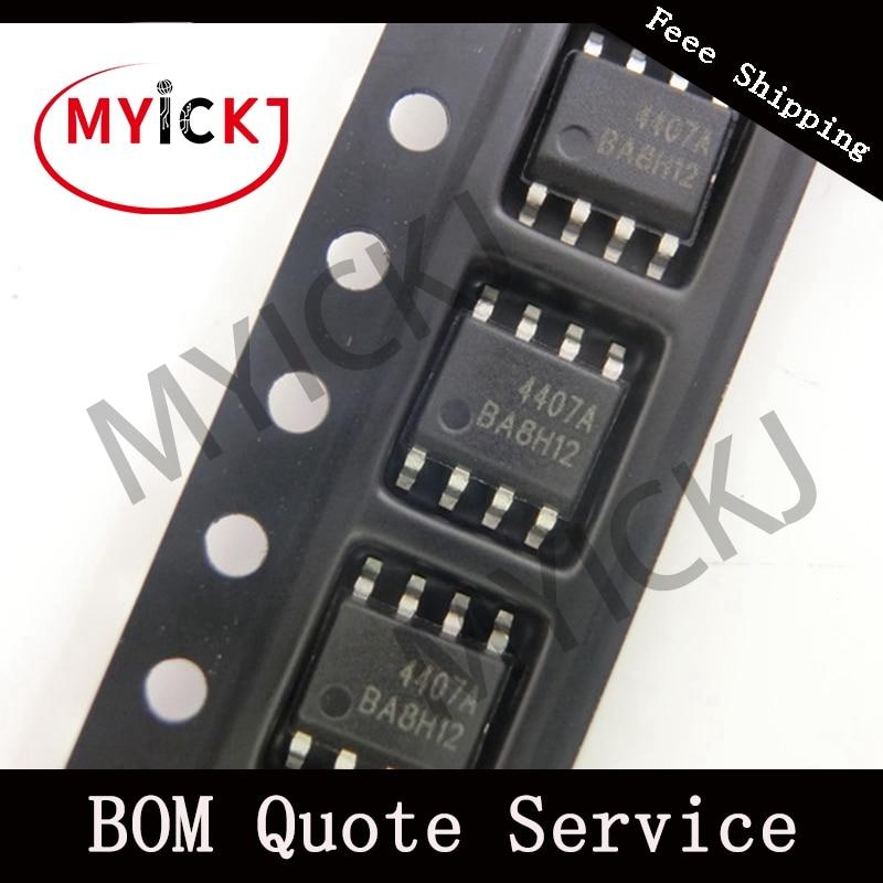 10pcs AO4407A IC CHIP MOSFET P-CH 30V 12A 8SOIC    4407A