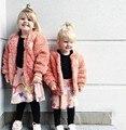 2016 muchachos de las muchachas de bebé capa de las muchachas chaqueta de la capa de zorro bobo choses niña abrigos y chaquetas de abrigo de invierno vestidos chrismas