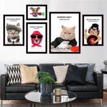 Cat Nordic Style Home Decoration Animals Canvas Painting Cardinal Portrait Posters Hd Print Wall Art Picture For Bedr