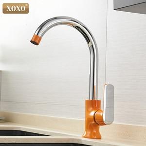 Image 4 - Кухонный кран XOXO, латунный Смеситель для холодной и горячей воды с одной ручкой и вращением на 360 градусов, Tap20021 1 Torneira,