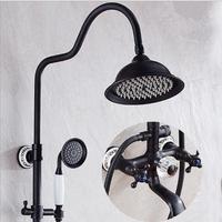 Free Shipping Luxury Bathroom Rainfall Shower Faucet Set Antique Bath Shower Faucet BathTub Mixer Hand Shower