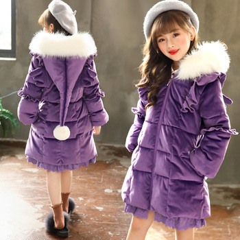 Toddler Girls Winter Jackets Parka Thicken Warm Cotton Down Coats Christmas Baby Girl Snow Suit Big Girl Warm Outwear -30 Degree