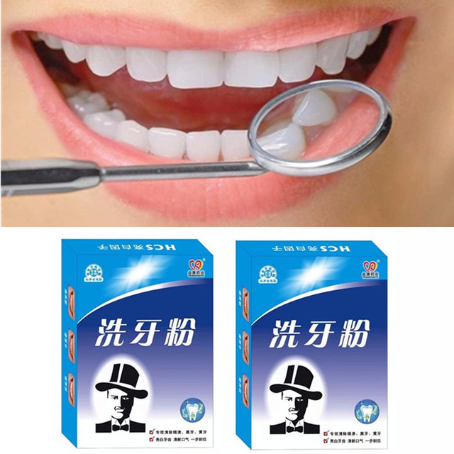 Homme Dentaire Oral Dents Blanchissant La Poudre De Lavage Des Dents