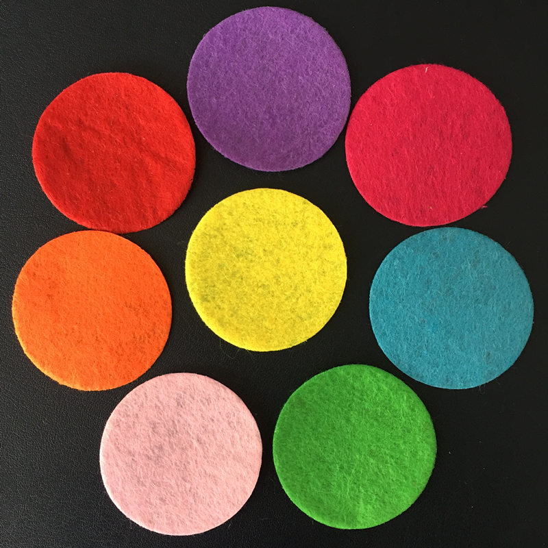 200pcs 30mm Mix Color Padded Felt Round Shape Craft/ DIY Appliques Clothing Decoration Scrapbook A15C*2
