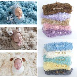 Luxury Wool Flokati Rug Curly Lamb Fur Greek Flokati Shaggy Rug Newborn Blanket Wool Carpet Posing Fur Beanbag Cover Photo Props