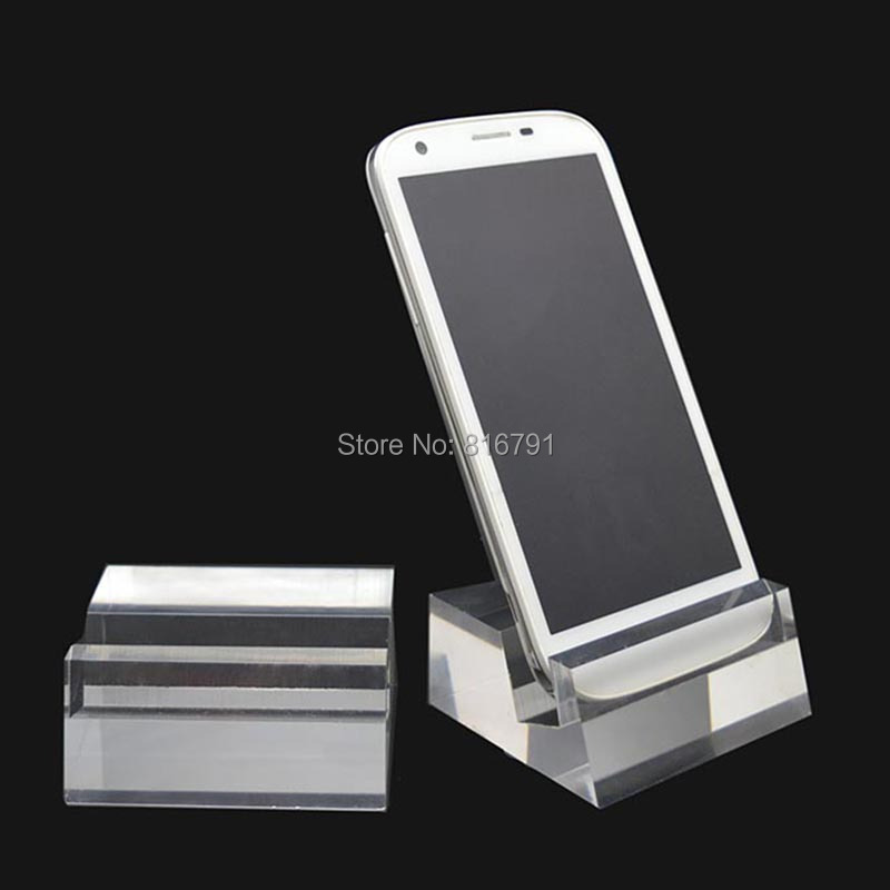20pcs Vertical Clear Mobile Phone Display Holders Cellphone Acrylic Stand Smartphone Display Racks Free Express Shipping plastic clear a6 three tiers acrylic brochure literature leaflet display holders racks stands on desktop 2pcs good packing