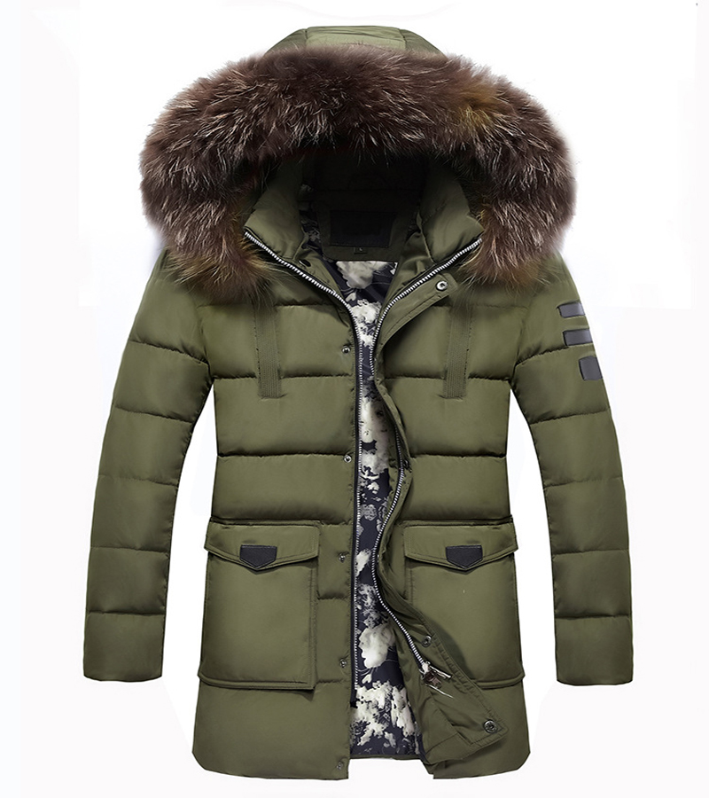 2018 Casual Parka Men Thick Cotton Jacket New Long Winter Parkas Warm Fashion Business Jackets Coats Fur Collar Dropshipping