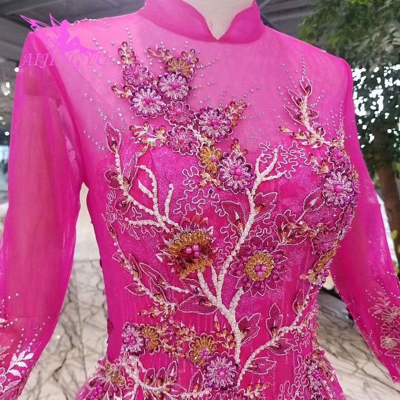 AIJINGYU винтажное платье Свадебные платья со звездами индийские Дешевые Великобритании винтажные Boho женские белые сексуальные индийские пла... - 5
