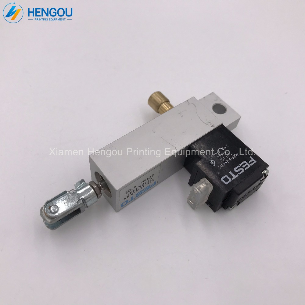 4 Pieces 24V DC Cylinder for Heidelberg SM74 PM52 SM52 Machine Solenoid Cylinder 61.184.1131 ESM-10-4-P-SA 2 pieces 61 184 1133 heidelberg pm74 sm74 cylinder valve unit esm 10 4 p sa heidelberg printing machine spare parts page 7