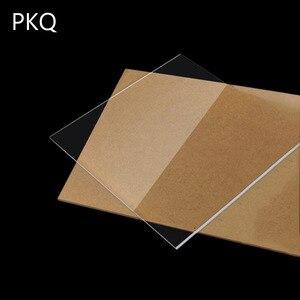 20pcs/lot Square Acrylic Sheet Plexiglass Clear Sheet Mini Plastic Transparent Acrylic Board DIY Perspex Panel 1mm 2mm 4mm Thick