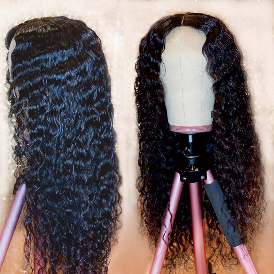 Glueless Water Wave Pre Plucked Full Lace Human Hair Wigs For Black Women Brazilian Curly Human Hair Wig With Baby Hair RemyHair