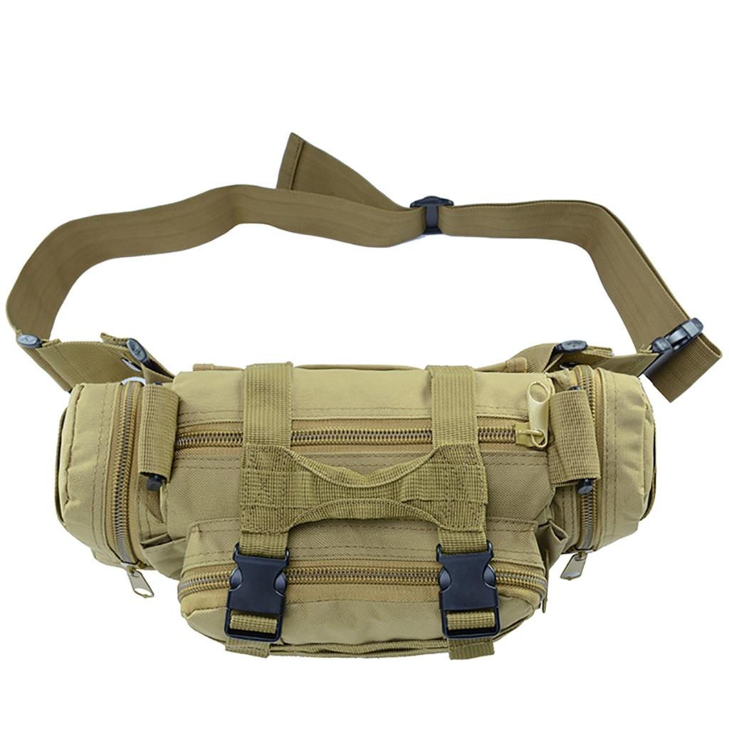 Solid Big Capacity Tactical Waist Bag For Men Outdoor Wild Sport Camouflage Travel Bag Camping Hiking Trekking Shoulder Bag