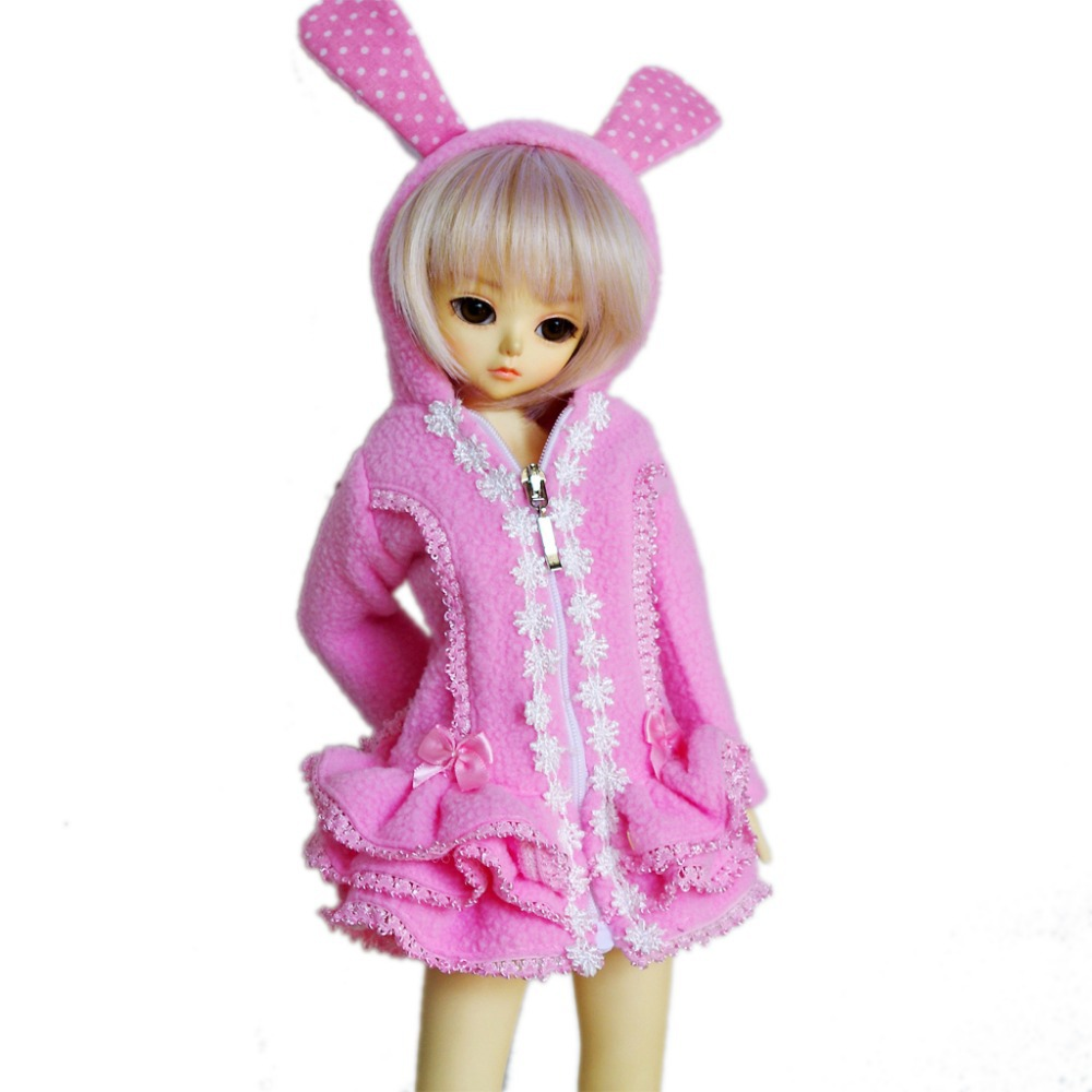 PF 600# Pink Hooded Jacket Clothing 1//4 MSD DOD BJD Dollfie Clothes