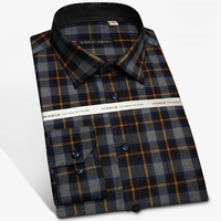 95 Wool Plus Size Men S Clothing Fashion New Autumn Spring Brand Shirt Slim Fit Dress