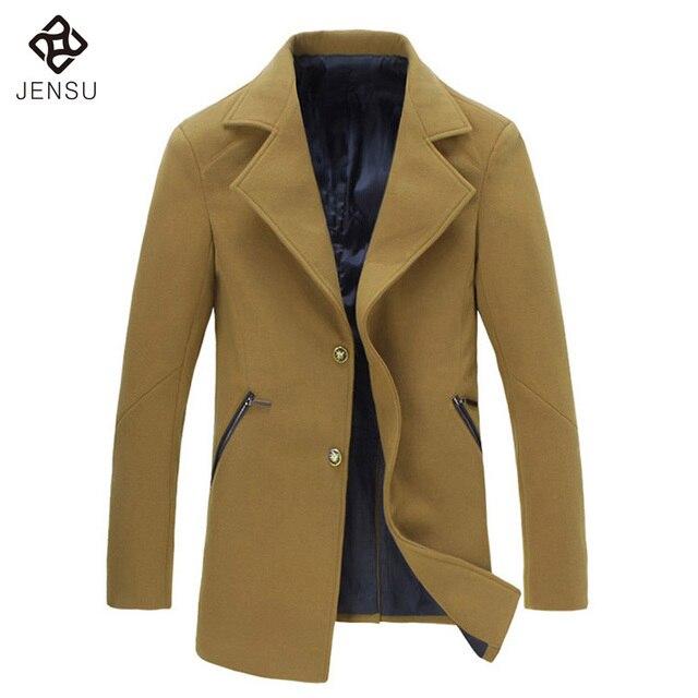 Los Hombres de moda Abrigos Largos de Los Hombres Delgado Se Adapta A Las Chaquetas de 2016 Nuevas Llegadas de los hombres Calientes Abrigos Más El Tamaño 5XL Hombres de Invierno Outwears 4 Colores