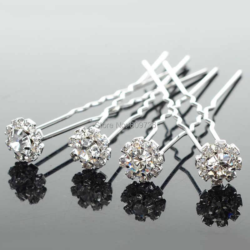 Detail Feedback Questions about 20PCS Chic Flower Clear Crystal Hair Clips  Hairpin Wedding Bridal Pearl Hair Pins Bridesmaid Jewelry Women Hair  Accessories ... b114c01c3417