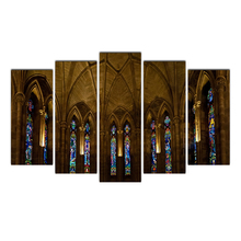 Cairnsi HD Printed 5 Panel Painting Print Painting Canvas Art Abbey&Religion Pictures Large Wall Pictures For Bedroom Home Decor