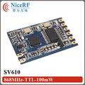 8pcs/Pack  SV610 100mW 1400m Long distance TTL Interface 433MHz RF Module Free Shipping