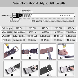 Image 5 - BIGDEAL Mens Belt Cow Leather Belts Luxury Men Automatic Buckle Genuine Leather Strap Waistband Belts For Men 3.5cm