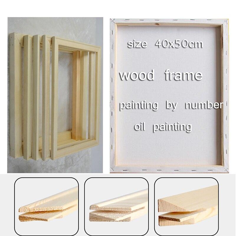 Cadre en bois pour toile peinture à l'huile Usine Prix Bois cadre pour toile peinture à l'huile nature40x50cm DIY cadre photo cadre intérieur