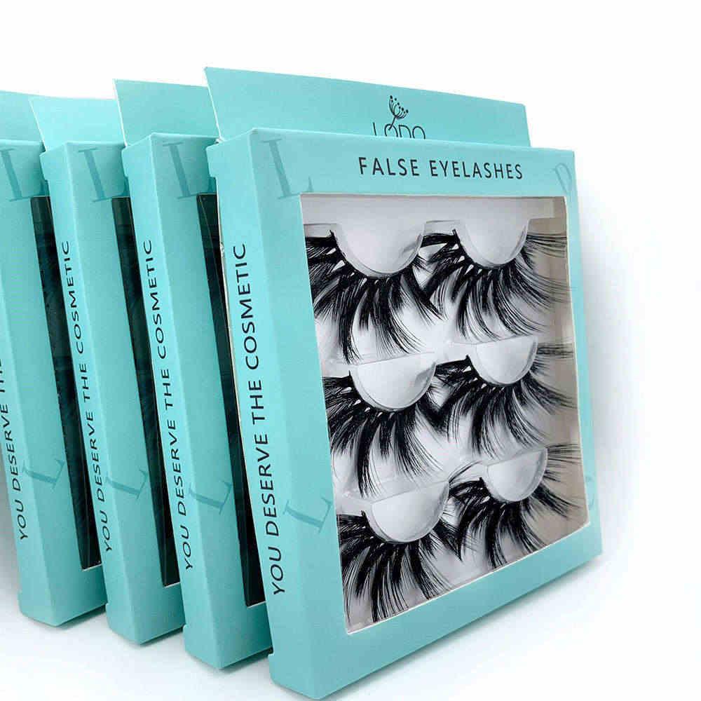 3D Натуральные Черные Накладные ресницы модный макияж натуральные накладные ресницы удлинение ручной работы Ресницы Bigeye норковые ресницы