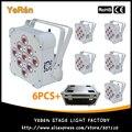 (6 PCS) mit Flighcase Drahtlose Batterie Powered LED Par Licht RGBWA + UV Beleuchtung 6in1 Dj Waschen Licht DJ Lichter-in Bühnen-Lichteffekt aus Licht & Beleuchtung bei