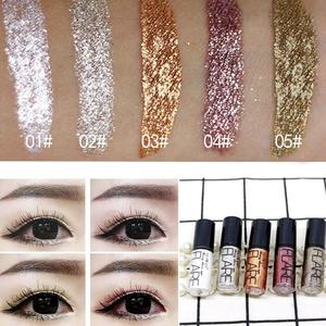 Image 3 - Professionelle Make Up Silber Rose Gold Farbe Flüssigkeit Glitter Eyeliner Bling Shiny Auge Liner für Frauen Auge Pigment Koreanische
