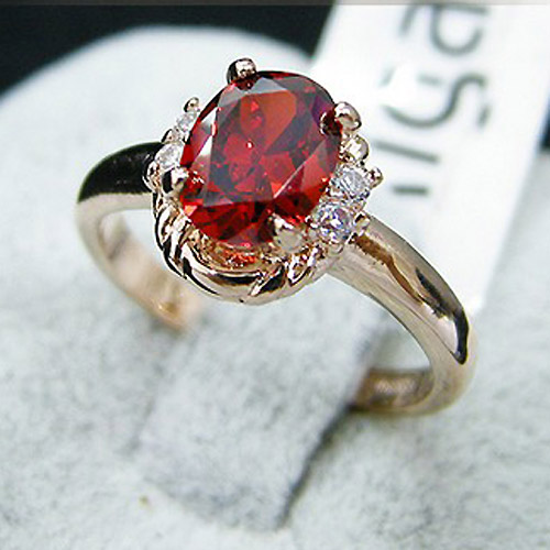 Red semi precious stone wedding rings for women cz diamond for Precious stone wedding rings