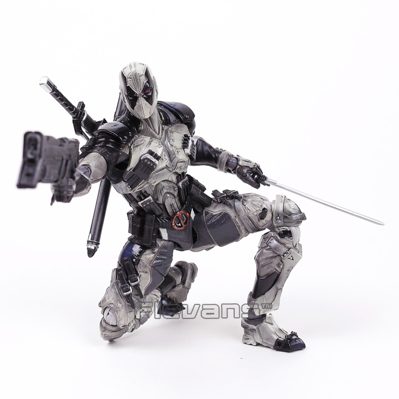 PLAY ARTS KAI Deadpool Grey Edition PVC Action Figure Collectible Model Toy 25cm fire toy marvel deadpool pvc action figure collectible model toy 10 27cm mvfg363