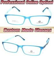 Sky Blue Frame Trend Optical Custom Made Optical Lenses Reading Glasses 1 1 5 2 2