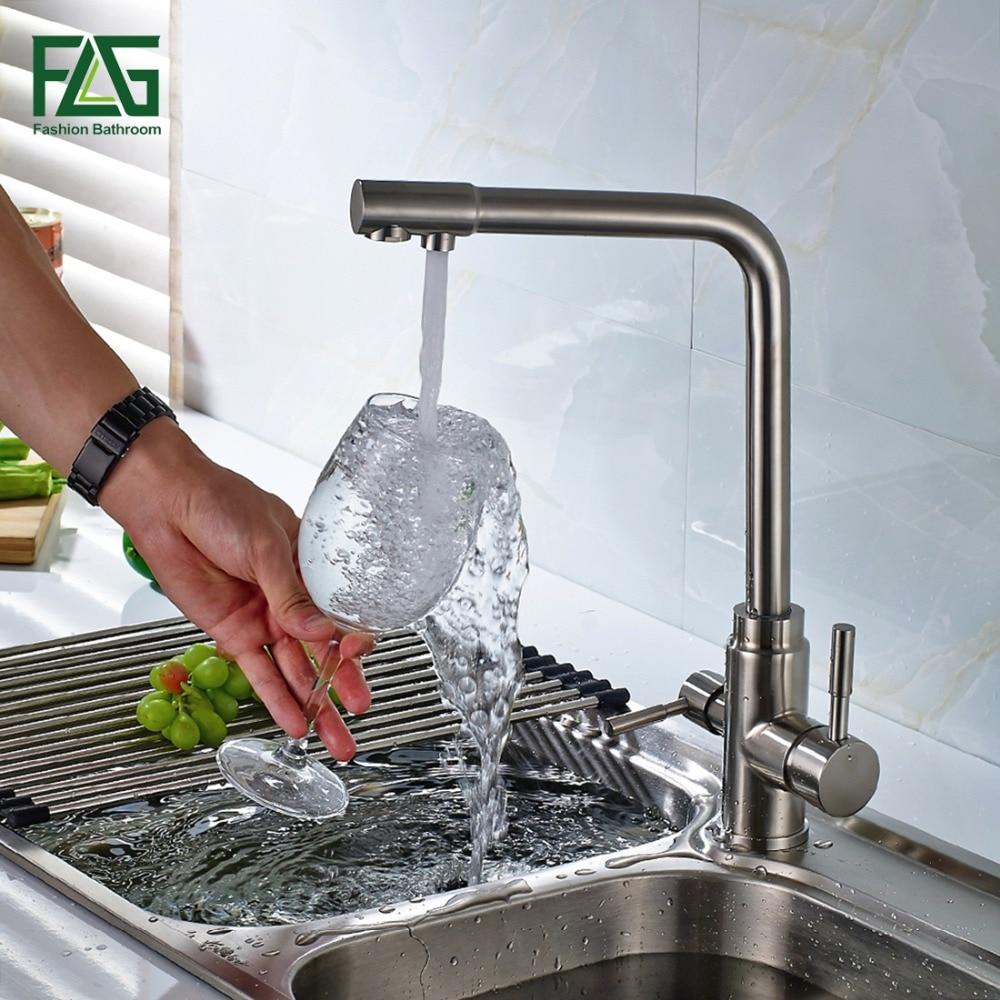 3 Way Tap 304 нержавеющая сталь питьевой воды кран фильтр для воды очиститель Кухонные смесители для раковин Mutfak Musluk краны 175-S 33 s