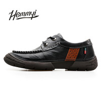 Hemmyi New Genuine Leather Men S Shoes Black Brown Luxury Brand Men S Shoe Outdoor Leisure
