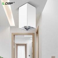 [DBF]High Reflection Square LED COB Surface Mounted Downlight 15W 20W Black/White Housing 3000K/4000K/6000K Ceiling Spot Lights