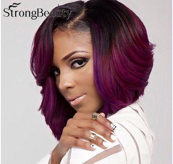 Purple Natural Hair Styles