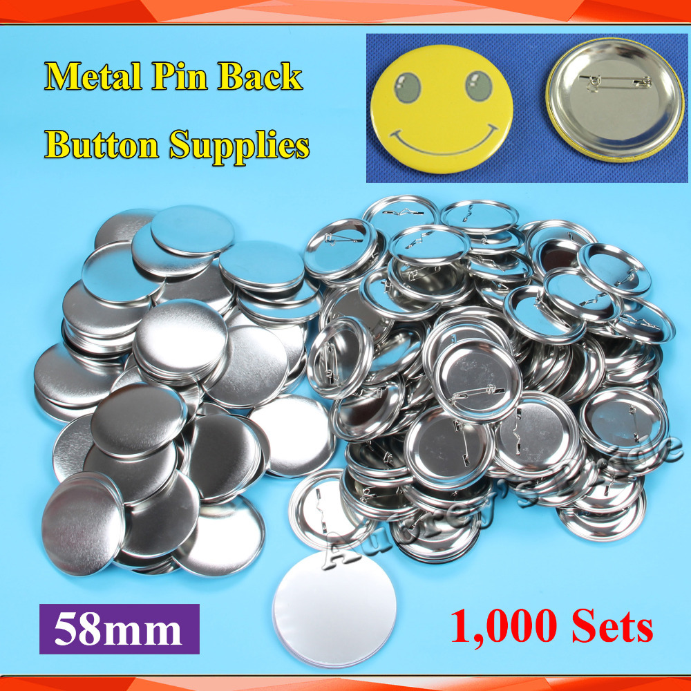 2 1 4 58mm 1 000 Sets NEW Professional All Steel Badge Button Maker Pin Back