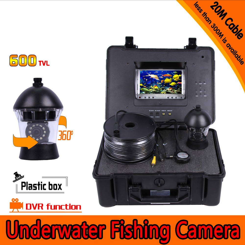 360 Degree Panning Underwater Fishing Camera Kit with 20Meters Depth & 7Inch LCD Monitor with Micro-DVR & Hard Plastics Case360 Degree Panning Underwater Fishing Camera Kit with 20Meters Depth & 7Inch LCD Monitor with Micro-DVR & Hard Plastics Case