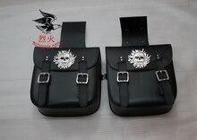 Free shipping motorcycle side bag satchel large Wang skull Kito side box side edging tool kit bags saddle bag