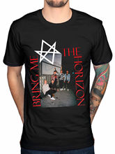 Bring Me The Horizon Mens Black Cotton Top T-Shirt Tee Summer Short Sleeves Fashion T Shirt Design Free Shipping