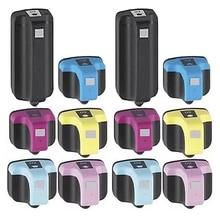 12PK Neue BK &-Ausbeute Tinten Warenkorb Für HP 02 Mit Chip PhotoSmart C6180 SMART C7180 SMART C7280 Drucker