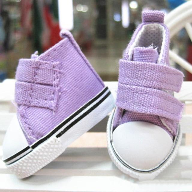 5 cm/7.5 cm Bebek Ayakkabı Denim Sneakers Bebekler Için Moda Denim Tuval Mini Oyuncak Ayakkabı 1/6 El Yapımı bebek