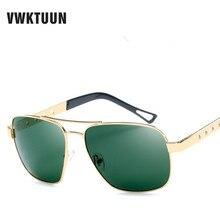 VWKTUUN Polarized Sunglasses Men Driving Sunglass Coating Sunglases Retro Sun glasses For Men Rectangle Mirror Eyewear Oculos