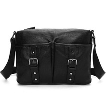 2017 Famous Brand  PU Leather Men Messenger Bags Solid Shoulder Travel Crossbody Handbags Casual Briefcase