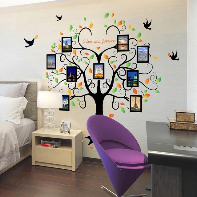 Nueva forma de corazón Marcos árbol Adhesivos de pared cartel para ...