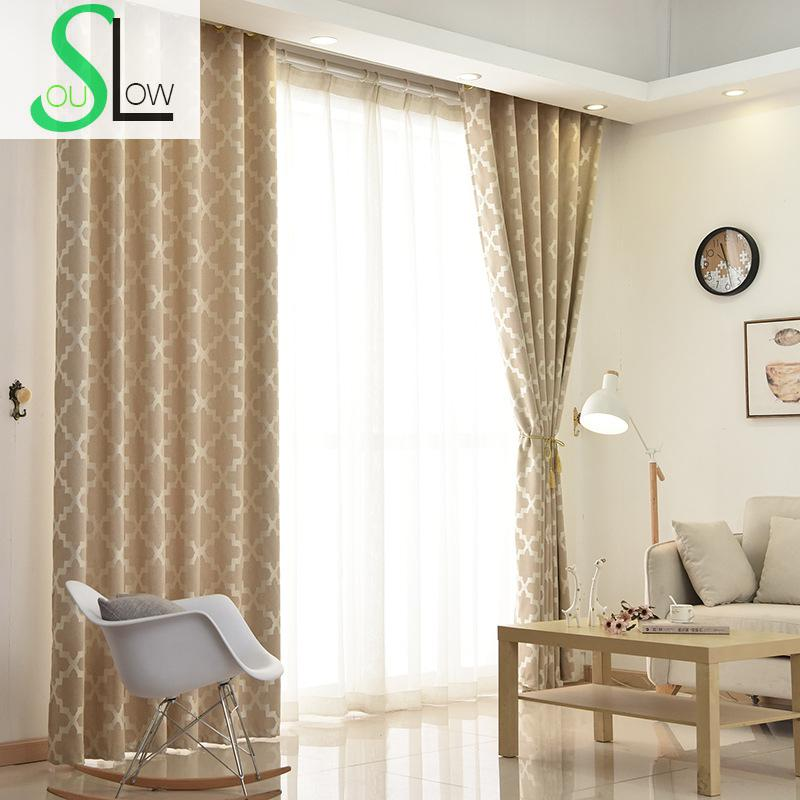 Slow Soul Gray Khaki Pink Cotton Jacquard Curtain Japan Geometric Curtains  Cortinas For Living Room Cortina Kitchen Bedroom In Curtains From Home U0026  Garden ...