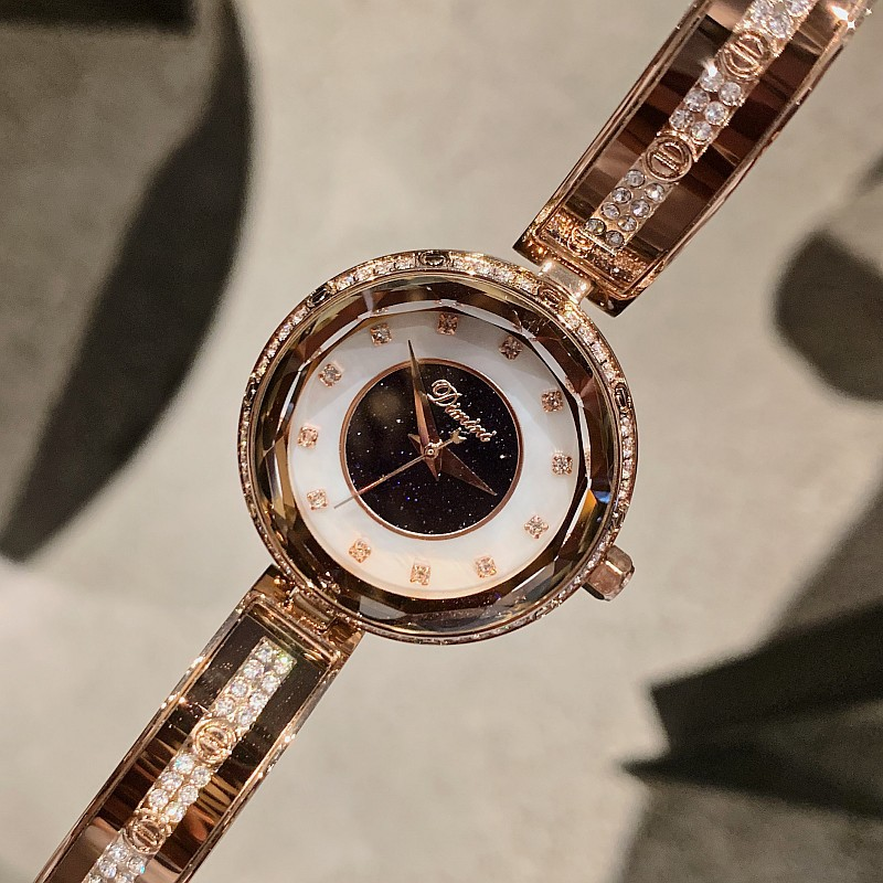 New zircon rose gold bracelet full drill strap fashion Mercury Star Shell WatchNew zircon rose gold bracelet full drill strap fashion Mercury Star Shell Watch
