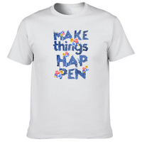 Men S Most Popular Item DIY T Shirt Custom Ink Character Flower Make Things Happen Crew