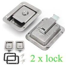 Нержавеющая сталь весло дверной замок защелка ручка товары для машины прицепы с ключом 2 шт./компл.