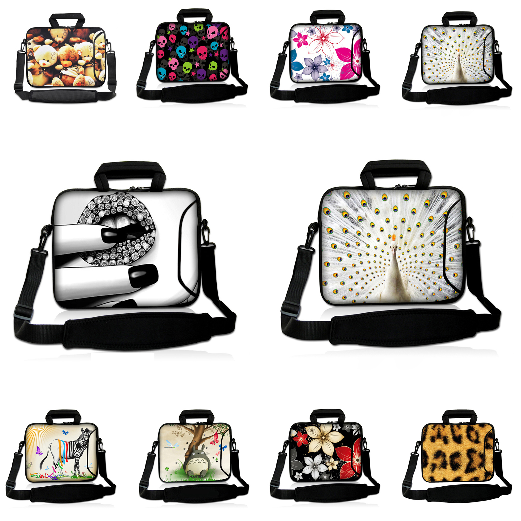 New Arrival Notebook Cover Pouch Cases 13 12 15 17 14 10 15.6 14.4 17.3 inch Women Shoulder Messenger Laptop Bags For HP Envy