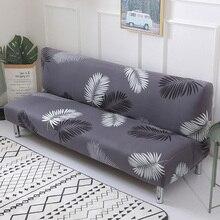 Gedruckt blume sofa bett abdeckung foldding elastische hussen günstige Couch abdeckung stretch möbel abdeckungen einzelnen sitz sofa abdeckung