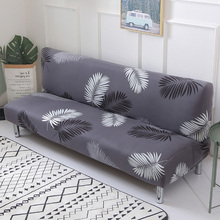 Printed flower sofa bed cover foldding elastic slipcovers cheap Couch cover stretch furniture covers single seat sofa cover